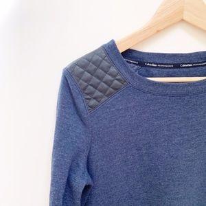 calvin klein blue crewneck sweatshirt S